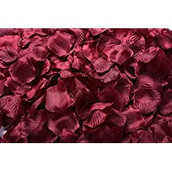 La Tartelette Silk Rose Petals Wedding Flower Decoration (4000 Pcs, Burgundy)