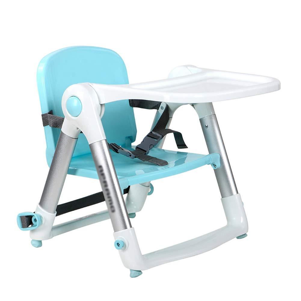 ベビーチェア ベビーブースターシート折り畳み式幼児用椅子PPベビーシートをトレイ、カラーオプションで食べる (色 : Blue-1)  Blue-1 B07GJN3QTJ