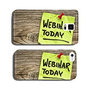 webinar today reminder note cell phone cover case Samsung S6