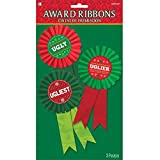 Amscan Festive Christmas Ugly Sweater Contest Ribbon (3 Piece), Multicolor,...