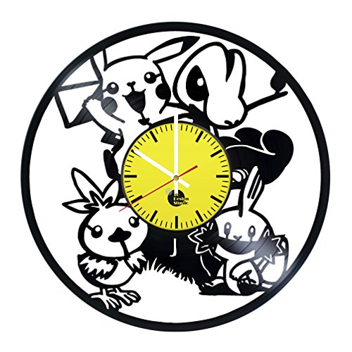 Price comparison product image Pokemon DS Vinyl Record Wall Clock - Get unique kids room wall decor - Gift ideas for kids,  teens,  children – Game Unique Art Design - Leave us a feedback and win your custom clock
