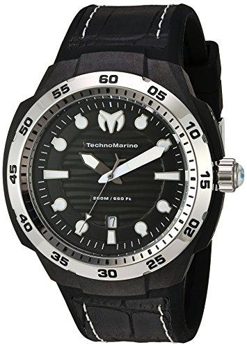(Technomarine Men's TM-515006 Sun Reef Analog Display Swiss Quartz Black Watch)