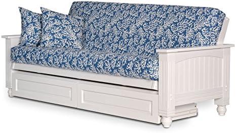 Amazon Com Atlantic Cottage Storage Drawers White Futon Sofabed