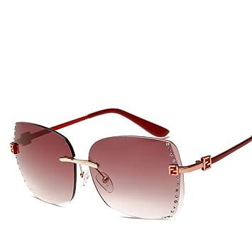 Wkaijc Trends Mode Persönlichkeit Kreativität Komfort Rahmenlos Ozean Filme Sonnenbrille Dame Sonnenbrillen,E