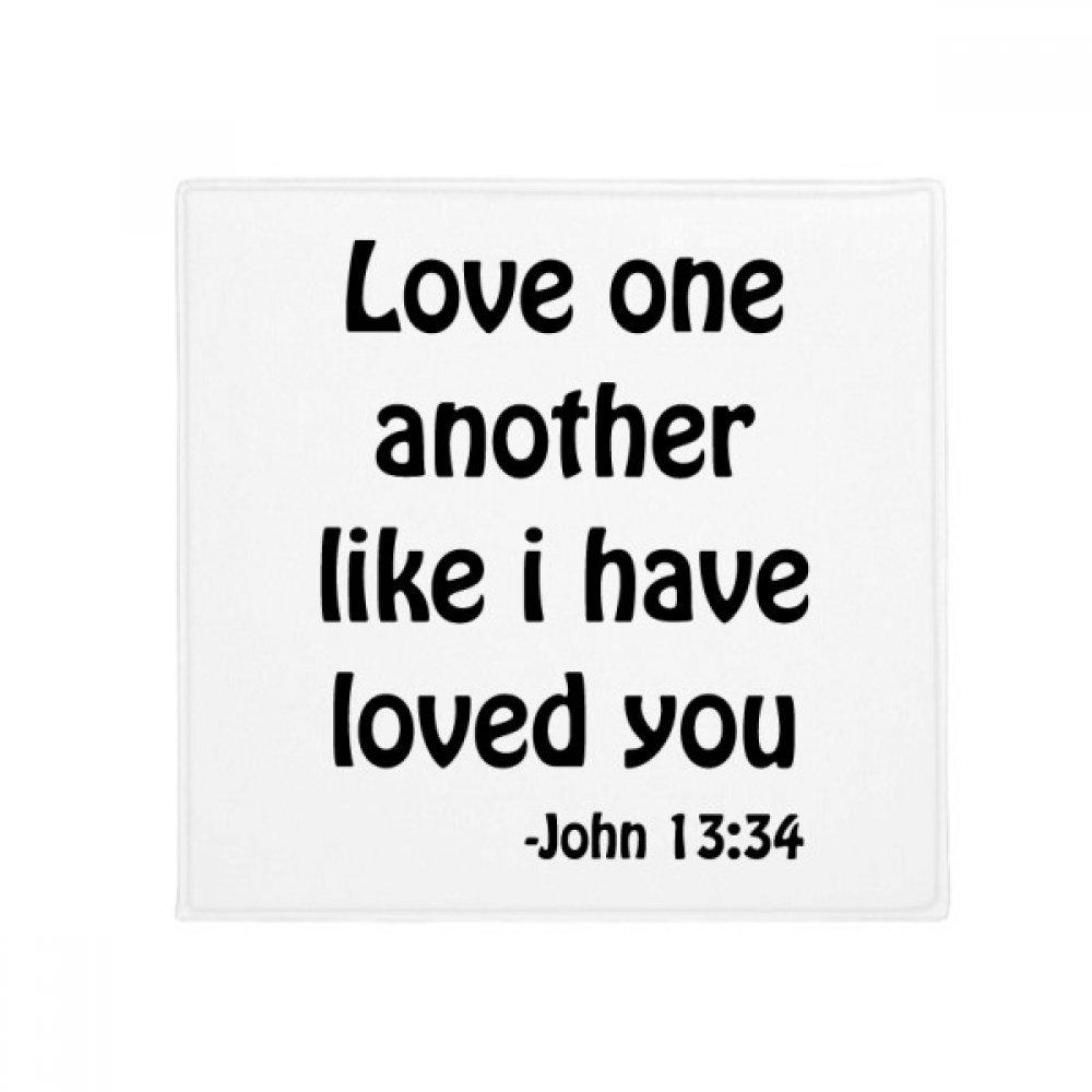 DIYthinker Love One Another Christian Quotes Anti-slip Floor Pet Mat Square Bathroom Living Room Kitchen Door 60/50cm Gift