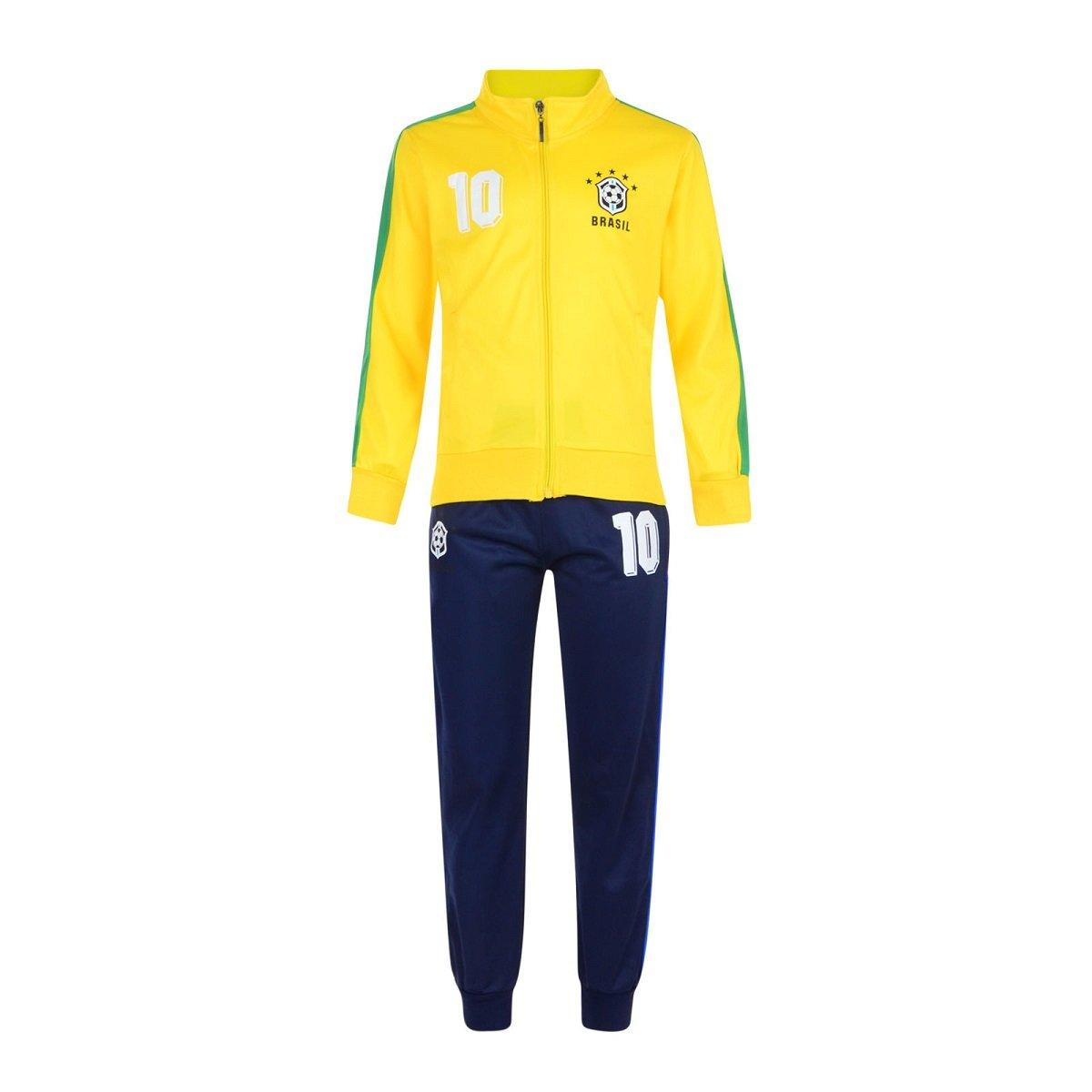 Shiffy Co - Chándal - para niño amarillo Brazil Yellow 12 Años ...