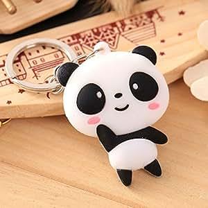 Da.Wa Llavero Creativo de la Forma de la Panda Bolso del Llavero Colgante Llavero Lindos Llaveros