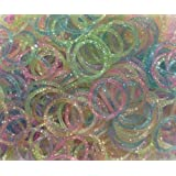 Generic Refill Bands Pack of 1200 Glitter Style 1 Rubber Bands with 50 S-clips