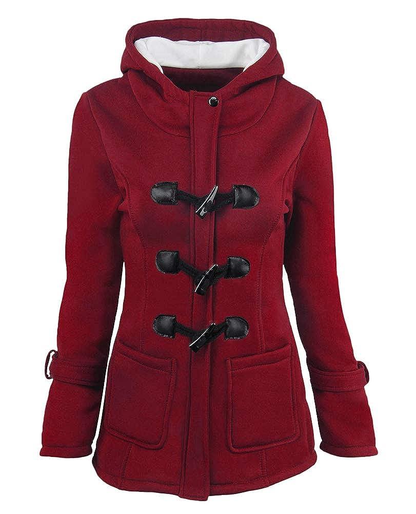 Donna Cappotti Invernali Cappuccio Autunno Invernali Calda Addensare Cappotto Casual Locker Giaccone Outerwear Moda Giovane