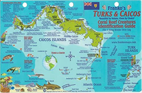 Turks Caicos Dive Map Reef Creatures Guide Franko Maps - Amazon maps