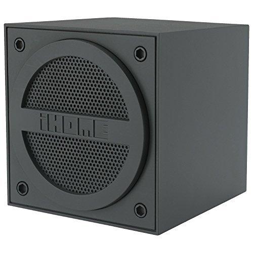 iHome Bluetooth Rechargeable Mini Speaker Cube - Black iBT16GC