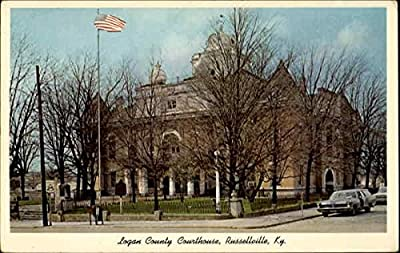 Logan County Courthouse Russellville, Kentucky Original Vintage Postcard