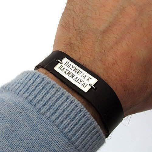 Amazon Com Roman Numeral Date Bracelet For Men Custom
