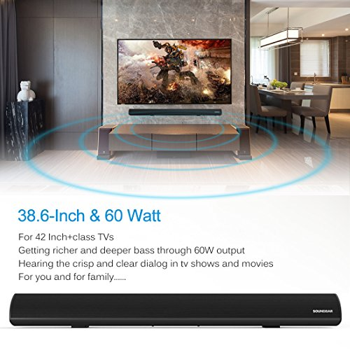 TV SoundBar Wireless Wired Connection Home Theater Audio Speaker ...