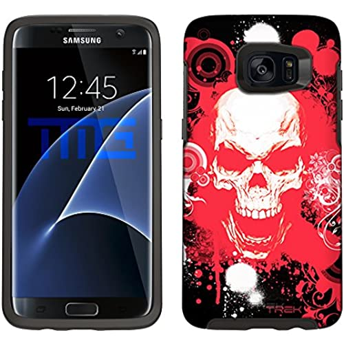 Skin Decal for Otterbox Symmetry Samsung Galaxy S7 Edge Case - Red Skull on Black Sales