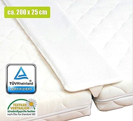 per letto matrimoniale fascia unisci-materassi piatto 200/cm di lunghezza e 25/cm di larghezza Megasparmarkt T/ÜV /Öko-Tex/®