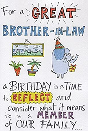 Humorous Brother In Law Birthday Card