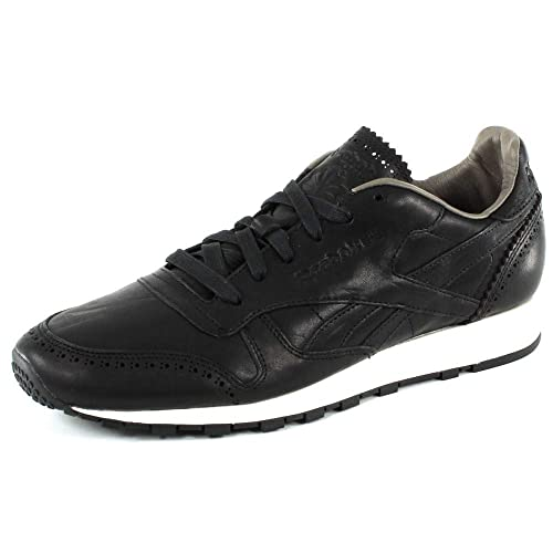 668c21f8f2c8e Reebok Classic Leather Lux Horween Black  Amazon.co.uk  Shoes   Bags