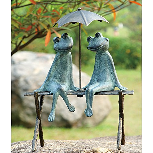 SPI Home 33317 Frog Lovers Garden Sculpture (Frog Garden Statue)