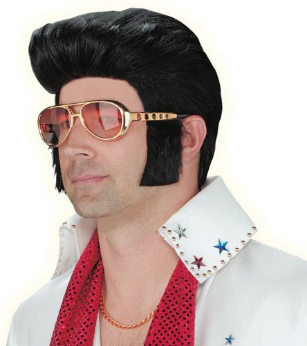 Elvis Sunglasses with Attached Sideburns for Costume