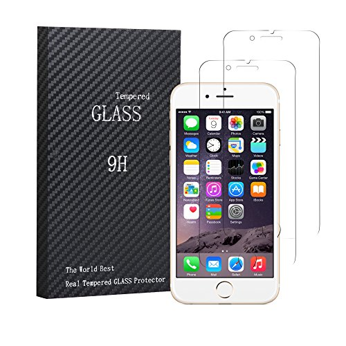 MXditect 2-packs iPhone 6 / iPhone 6S Screen Protector, Tempered Glass Screen Protector High Definition Clear Screen - Com Try Glasses On