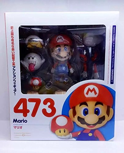 Nendoroid Super Mario Brother Mario #473 / Luigi #393 PVC Action Figure Collectible Model Toy Doll