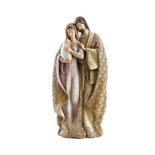 Holy Family Mary Holding Baby Jesus 12 inch Resin Stone Christmas Nativity Figurine by Joseph's Studio