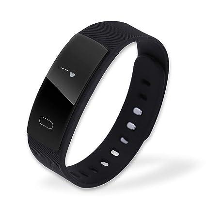 Dilwe Pulseras Inteligentes Reloj Bluetooth con Correa de Relojes Familias de Adolescentes Ejercicios USB Recargable