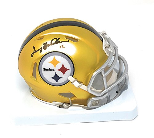 Bradshaw Autographs - Terry Bradshaw Pittsburgh Steelers Signed Autograph Blaze Speed Mini Helmet Bradshaw GTSM Player Hologram