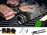 """BBQ LOVERS Smoker Pellet Tube 12"""" with 3 Metal Strips and Cleaning Brush for Free"""