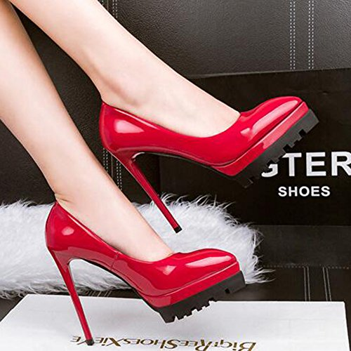 Toe Red Platform Aisun Pointed Wine High Pumps Elegant Shoes Women's Burnished Stiletto Heel qTwwnI4p