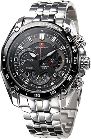 56c4cb43e43d Image Unavailable. Image not available for. Colour  Casio EF-550RBSP-1AVDR  Men s Black Dial Stainless Steel Strap Edifice Red Bull Racing