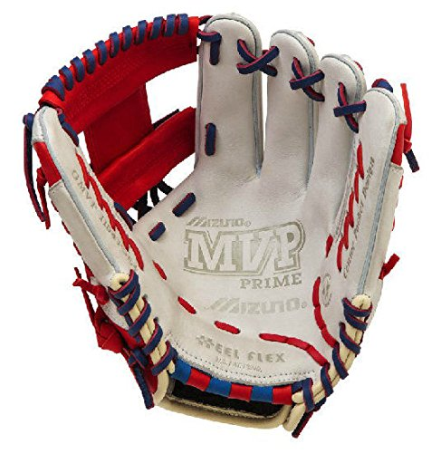Mizuno GMVP1154SE4 MVP Prime SE Gloves, Silver/Red, Right Hand Throw