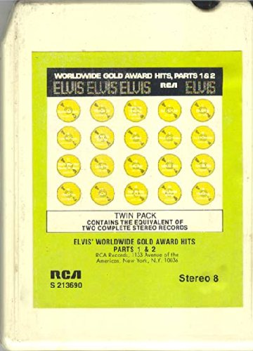 Elvis Presley: Elvis' Worldwide Gold Award Hits, Parts 1 & 2 8 track tape (Elvis Worldwide Gold Award Hits Parts 1 2)