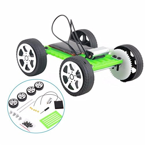 Lookatool 1 Set Mini Solar Powered Toy DIY Car Kit Children Educational Gadget Hobby Funny