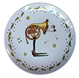 Dept. 56 Christmas Krinkles by Patience Brewster Music Dessert Plate - Horn