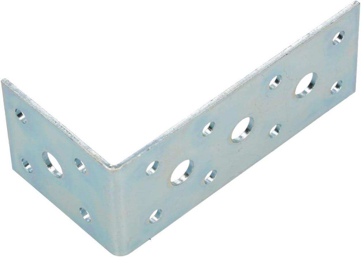 100 KOTARBAU Winkelverbinder 100 x 50 x 40 Stahl Bauwinkel Lochplattenwinkel M/öbelverbinder Verzinkt Schwerlast Holzverbinder Montagewinkel Stuhlwinkel