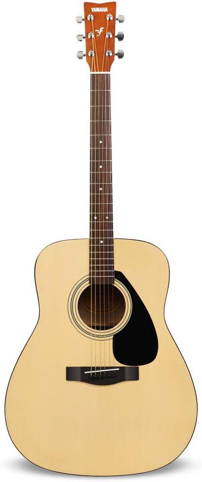 Yamaha F310 Guitarra Acústica – Guitarra Folk 4/4 de madera, 63.4 cm, escala 25 pulgadas, 6 cuerdas metálicas, color Madera natural