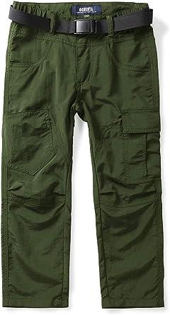 Quick Dry Convertible Zip Off//Regular Pants UPF 50 Outdoor Camping Pants CQR Kids Youth Hiking Cargo Pants