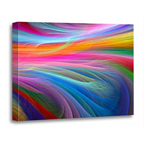 - TORASS Canvas Wall Art Print LGBT Rainbow Feather LGBTQ Gay Lesbian Bisexual Artwork for Home Decor 12