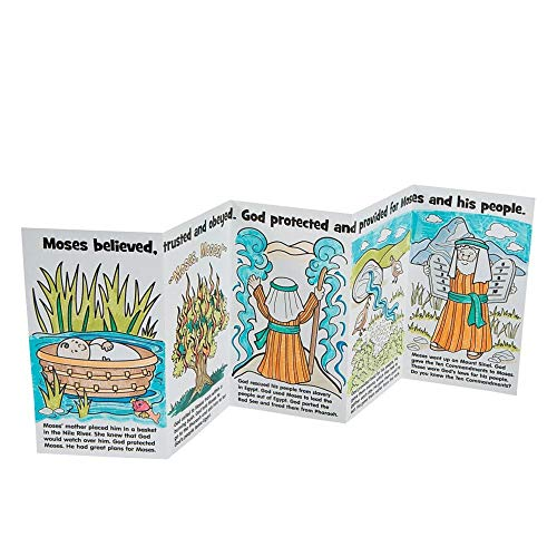 Color Your Own Moses Story Books by Fun Express