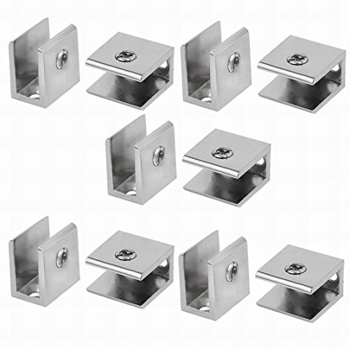 Ucland 29mm x 29mm Adjustable Bracket Glass Clamp Clip 10pcs for 12.5mm Thickness Glass by Ucland