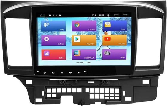 ZLTOOPAI Android 9.0 Radio para Coche para Mitsubishi Lancer 2008-2015 Unidad Estéreo del Coche GPS con Control de Volante WiFi OBD de Salida RCA Completa: Amazon.es: Electrónica