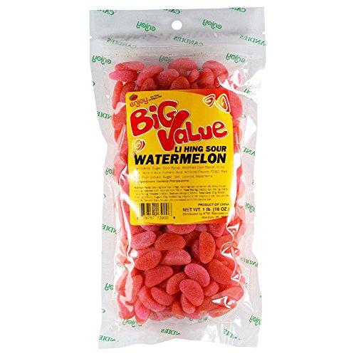 Enjoy Li Hing Mui Sour Watermelon Hawaii Snacks 1 Lb. (16 Oz.) Bag ()