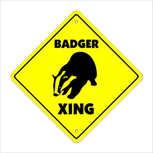 Badger Crossing Sign Zone Xing | Indoor/Outdoor | 14