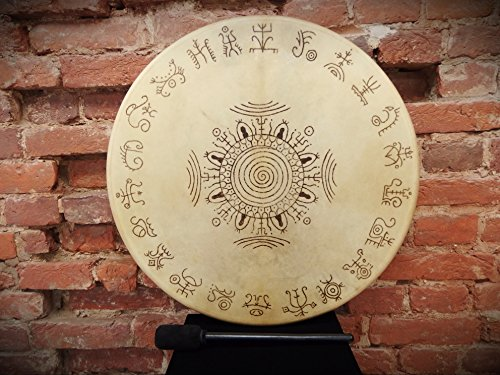 "24"" Tambourine Siberian Shamanic Circle with setting Drum Frame Handcrafted"