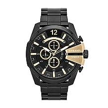 Diesel Men's DZ4338 Mega Chief Black Ip  Watch