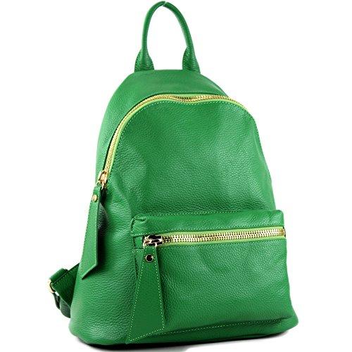 Präzise modamoda nur sac Farbe Farbe de Damenrucksack T171A Grün cuir Ital en Rzwq0nRr