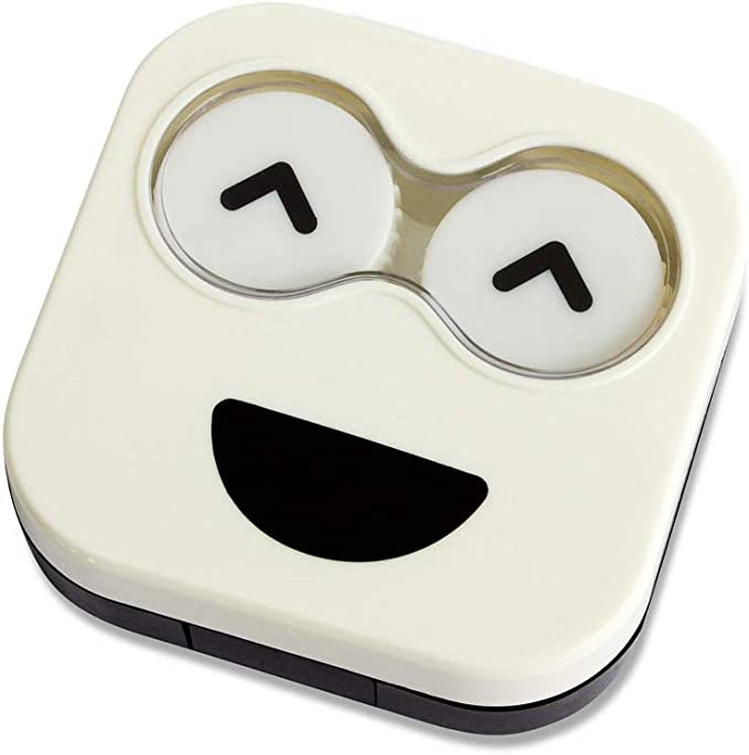 Balvi Estuche lentillas Emoji Color Blanco Caja para lentillas, diseño Divertido Emoji Blanco portalentillas Original Hombres y Mujeres Plástico 2x6,5x6,7 cm: Amazon.es: Hogar