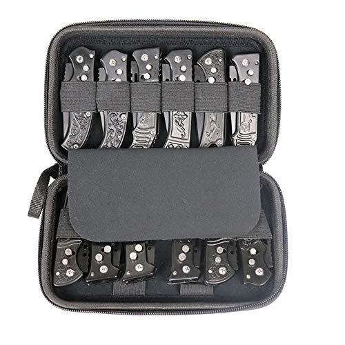 Pocket Knives Case, Folding Knives Display Case, Small Knife Storage Cases, Folding Knife Storage Box with 12 Slots, Hand Tools Case GJB318